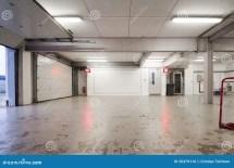 Empty Car Garage Stock Of Race Silverstone