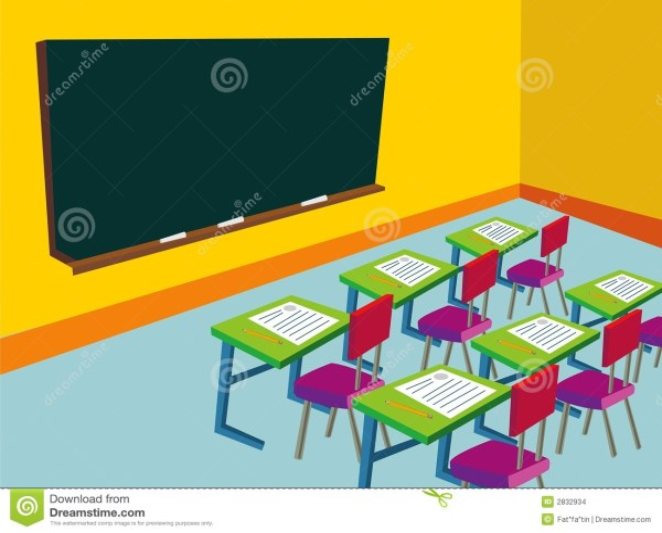 School Classroom Cartoon