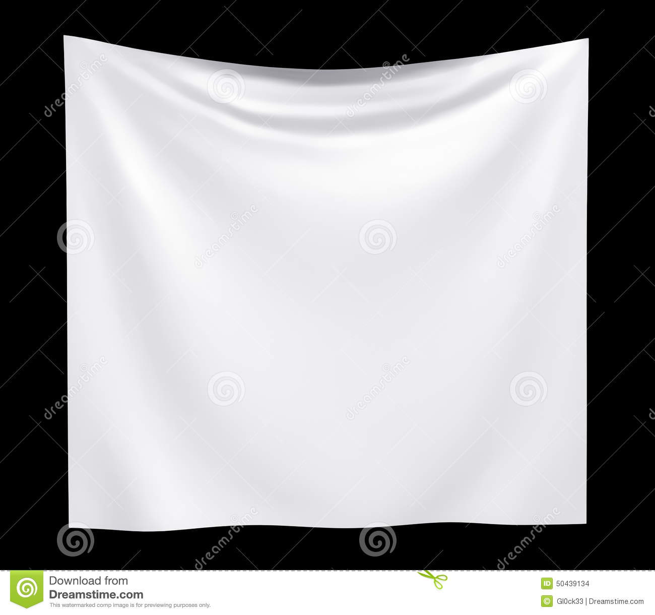 empty cloth banner with