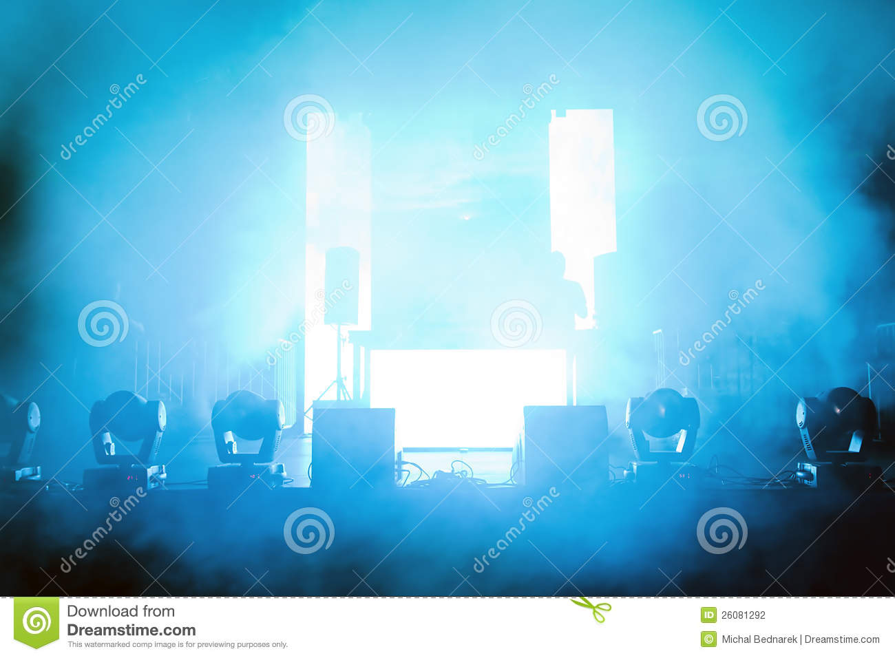 Empty Concert Stage In Light Stock Photography Image