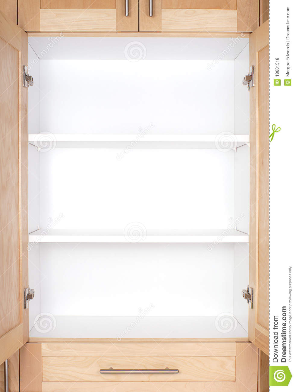 kitchen pantry cabinet plans corner drawer empty cupboard royalty free stock photos - image: 18601318