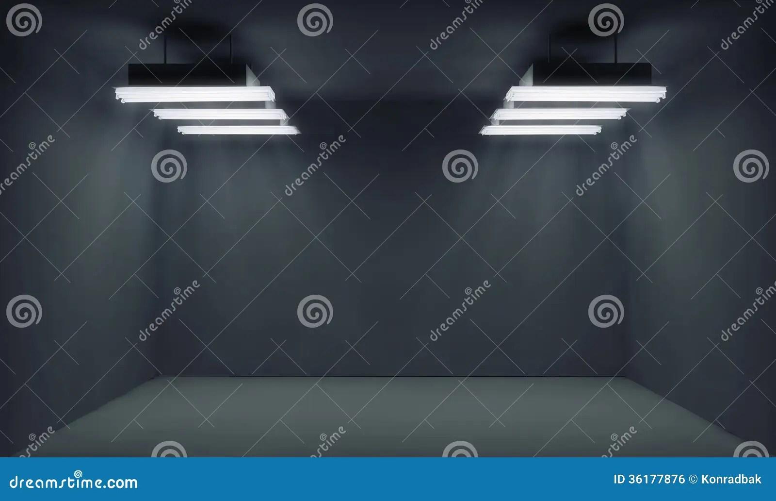Empty Dark Room With Lightrays Royalty Free Stock Image