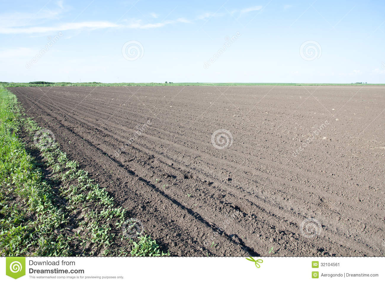 Empty Farm Field Stock Image Image Of Semination Corp