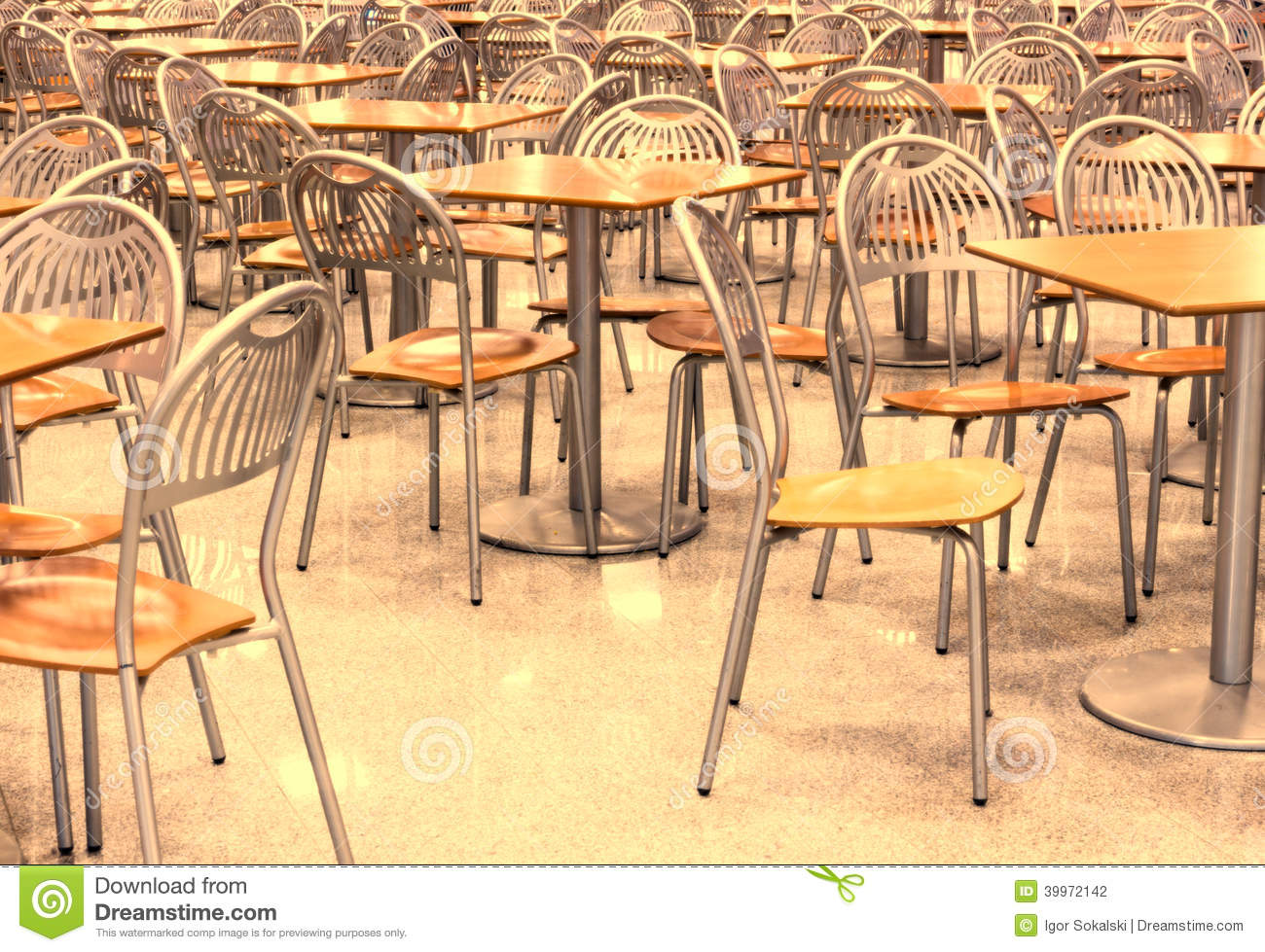 Food Chair Empty Fast Food Restaurant Stock Photo Image 39972142