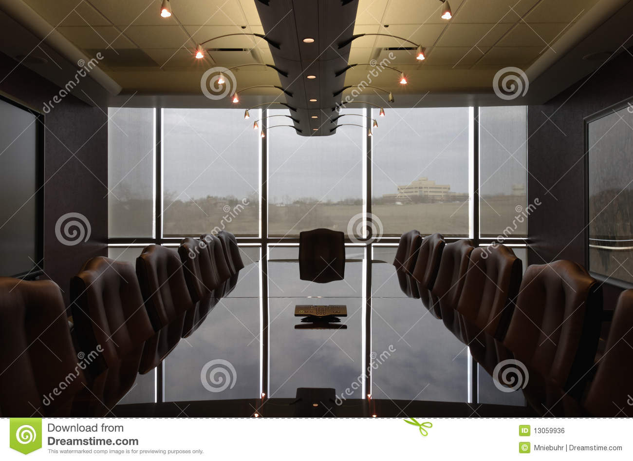 Empty Formal Boardroom Contemporary Design Royalty Free