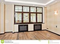 Interior Design Of Modern Empty Living Room Royalty-Free ...