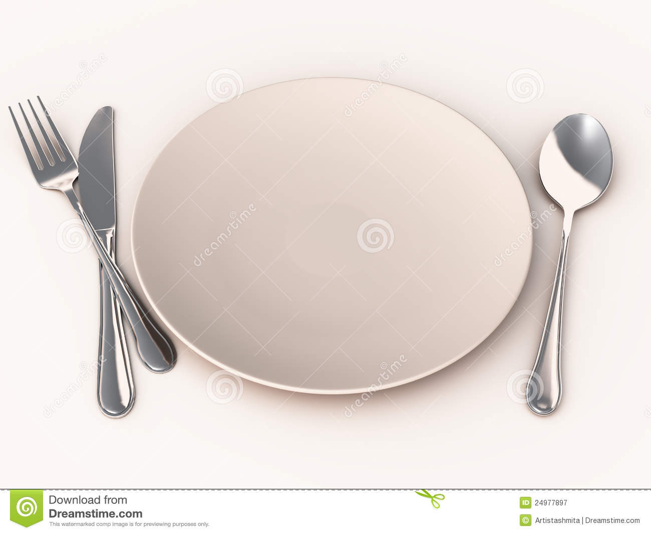 hight resolution of empty meal plate