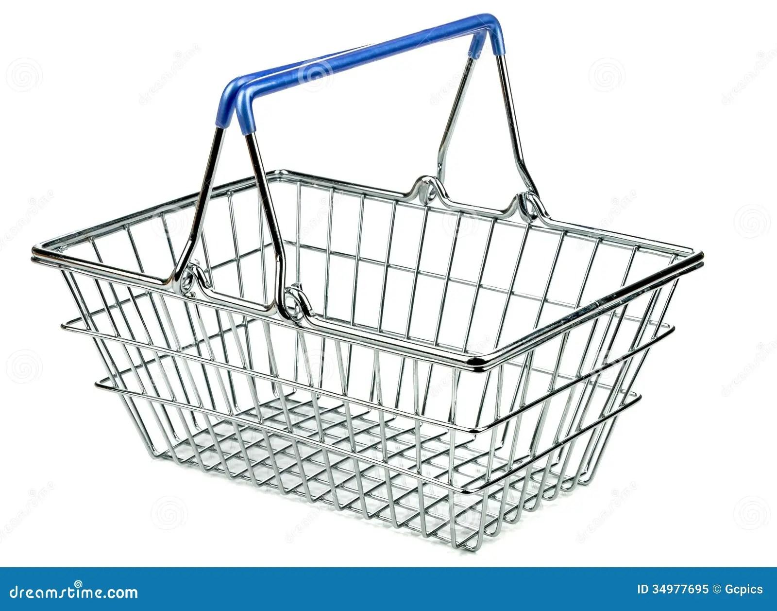 An Empty Metal Shopping Basket Stock Image