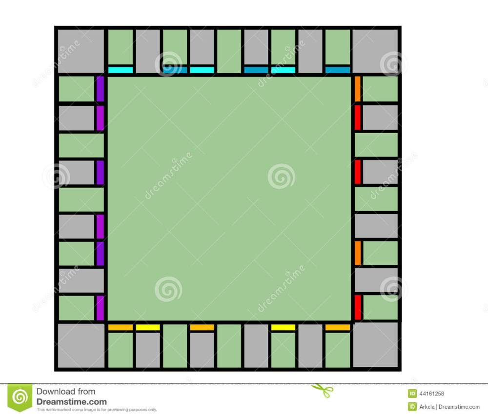 medium resolution of empty monopoly board