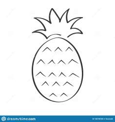 Empty Outline Illustration Of Pineapple For Scrapbooking Coloring Books Theme Design Stock Vector Illustration of icon juicy: 188190356
