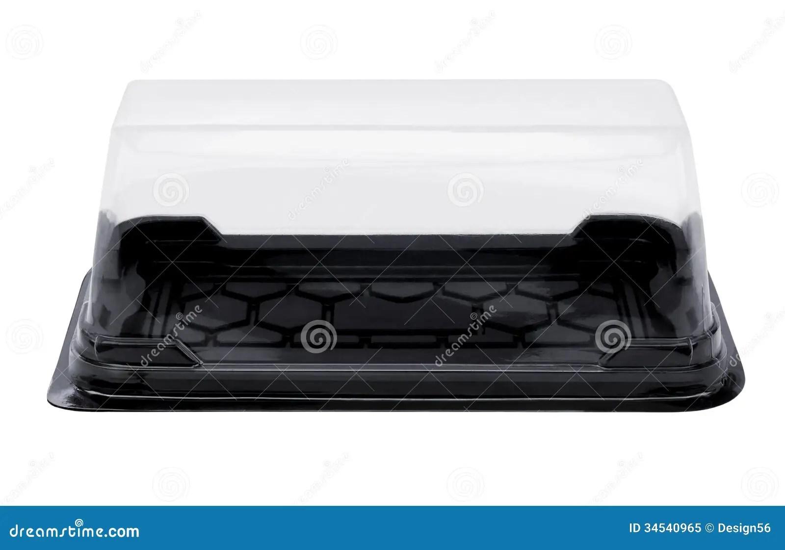 Empty Plastic Cake Box Royalty Free Stock Photo Image