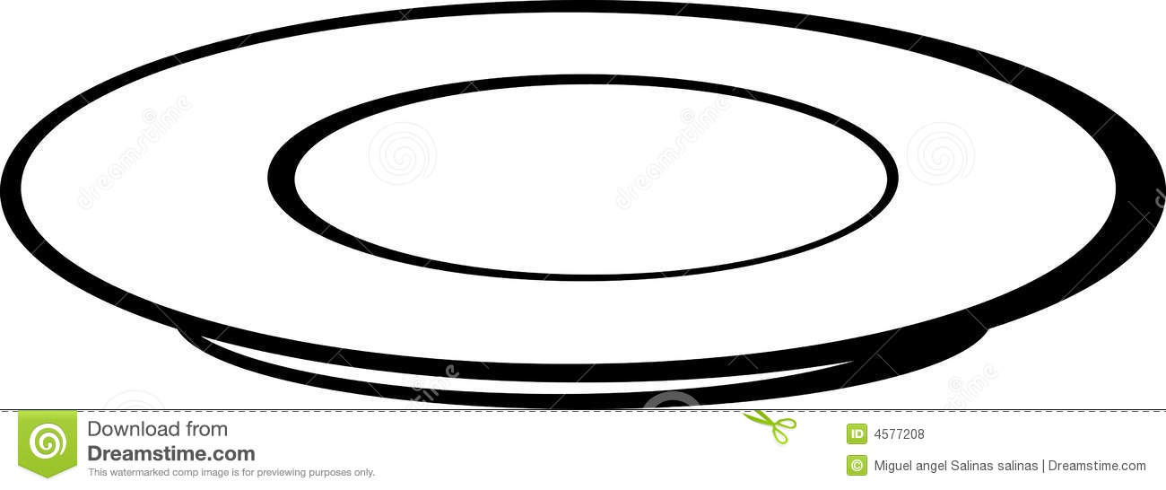Empty Plate Or Dish Vector Illustration Royalty Free Stock