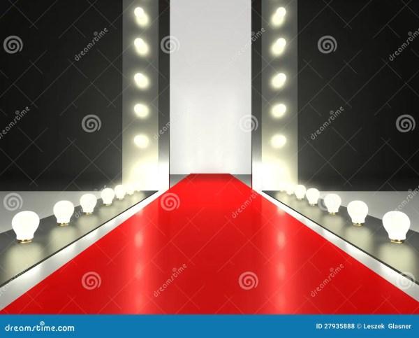 Empty Fashion Runway Red Carpet