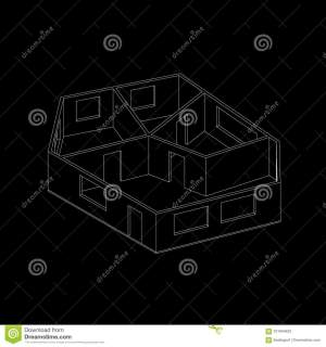 empty vector background outline plan isolated illustration