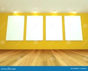 empty yellow gray wall royalty blank canvas interior dreamstime