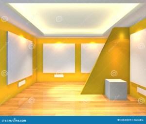 empty yellow interior canvas