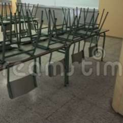 Chair Rail Upside Down Pottery Barn Cushions Outdoor Empty School Dining Room Stock Footage Video Of 106355982