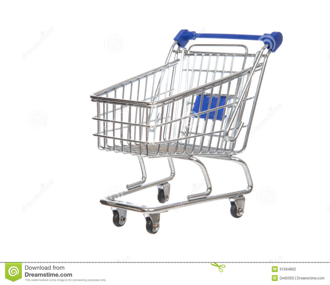 Empty Shopping Cart For Sale Isolated Stock Illustration
