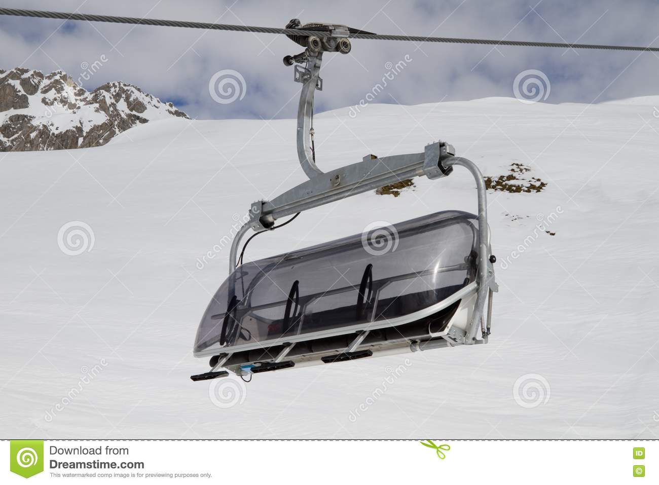 ski lift chairs for sale yellow metal empty stock photography image 13615542