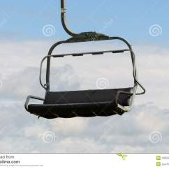 Ski Chair Lift Armless Chaise Lounge Empty Stock Photo Image Of Sport Large