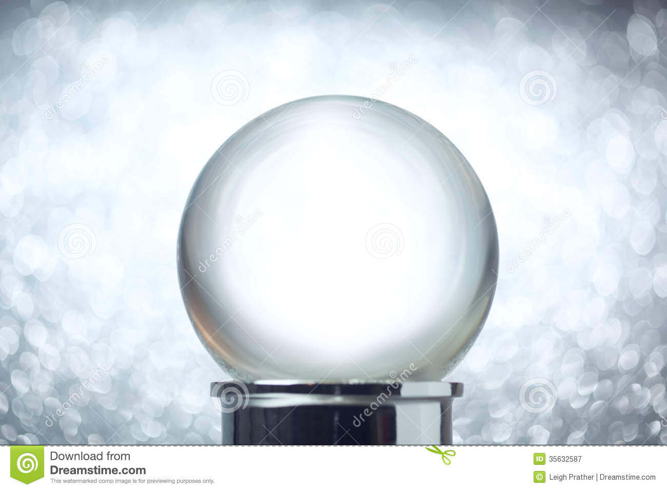 Empty Snow Globe Stock Image Image Of Ball Holiday