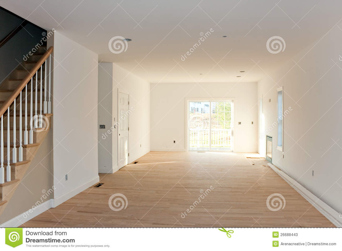 kitchen electrical outlets storage unit empty unfinished home interior stock photos - image: 26688443