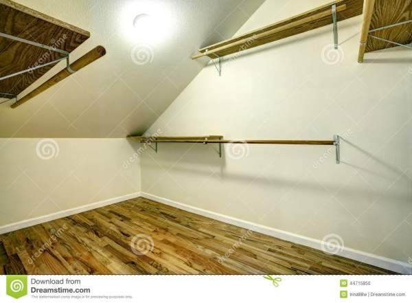 Closet with Vaulted Ceiling