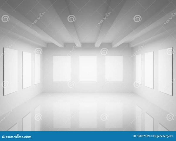 Empty White Art Gallery