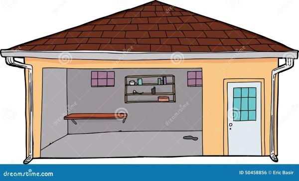 empty yellow garage stock illustration