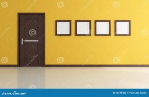 empty yellow closed