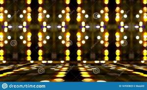 Empty Yellow Room Background 3