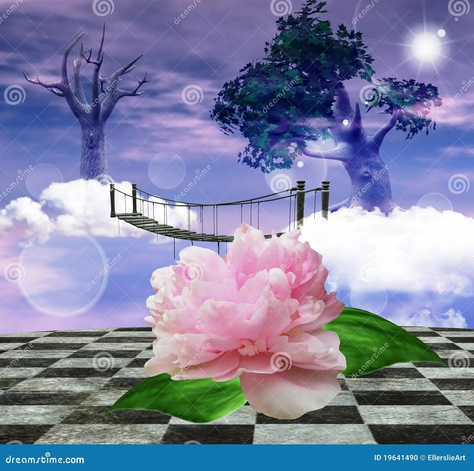 Pink Animal Print Wallpaper Enchanted Nature Series Surreal Nature Stock Photo