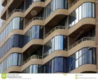 Enclosed Balconies, Modern Apartment Building Stock Photo ...