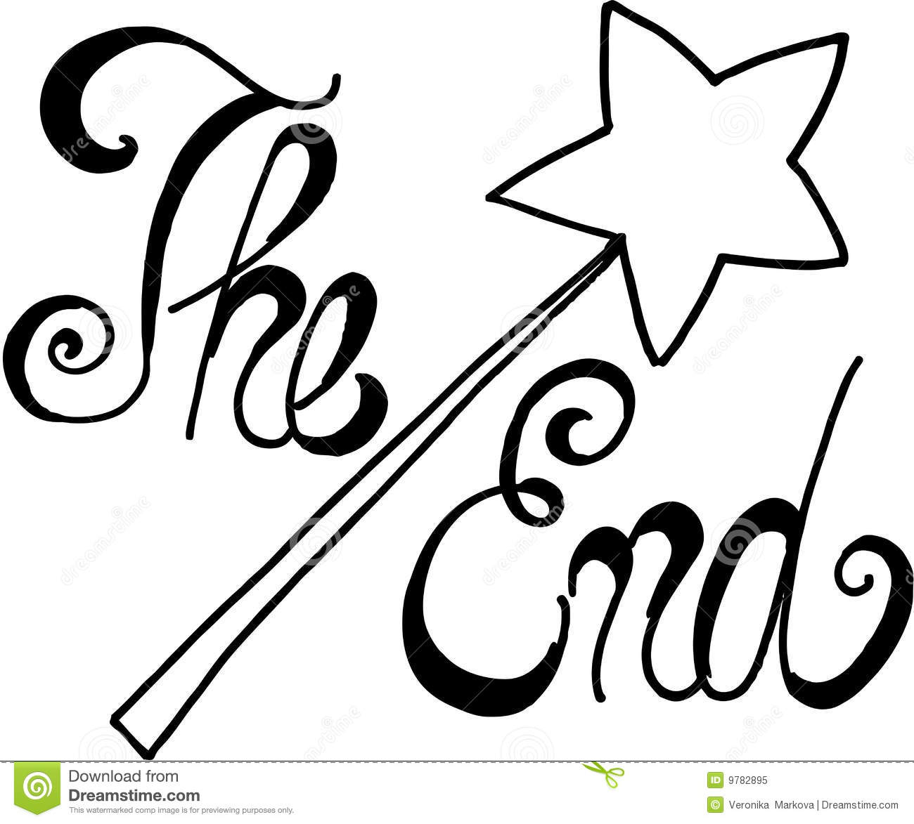 The End Stock Vector Illustration Of Word Text Fable