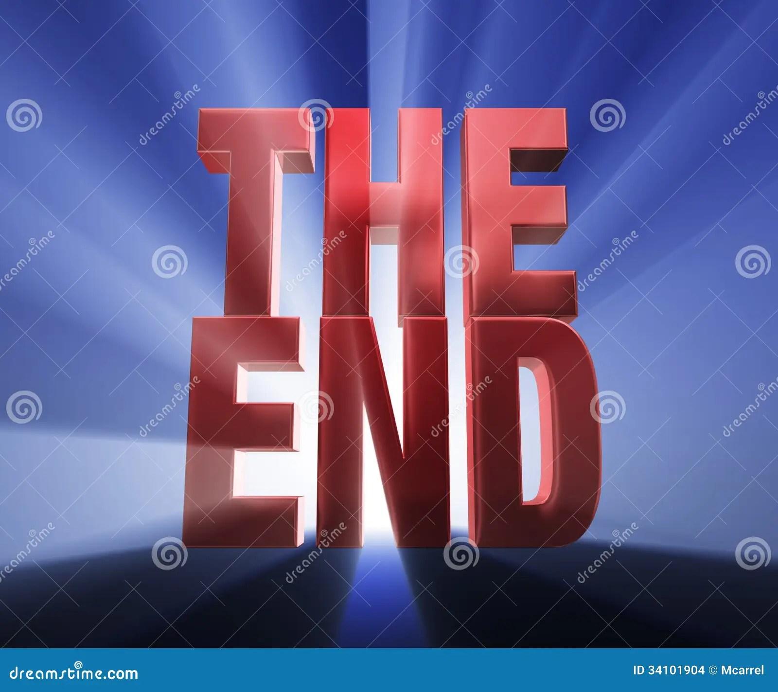 The End Stock Illustration Illustration Of Final