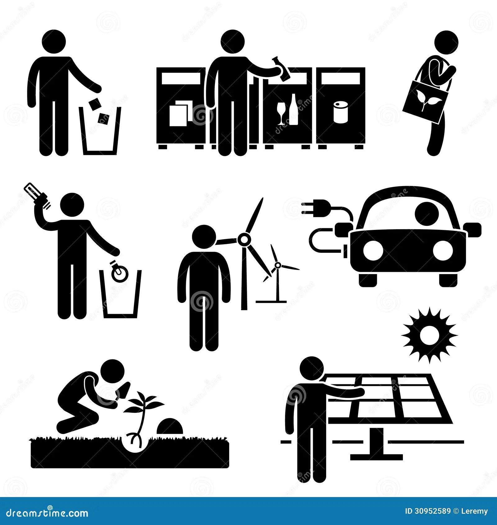 Energie Van Het Mensen De Kringloop Groene Milieu