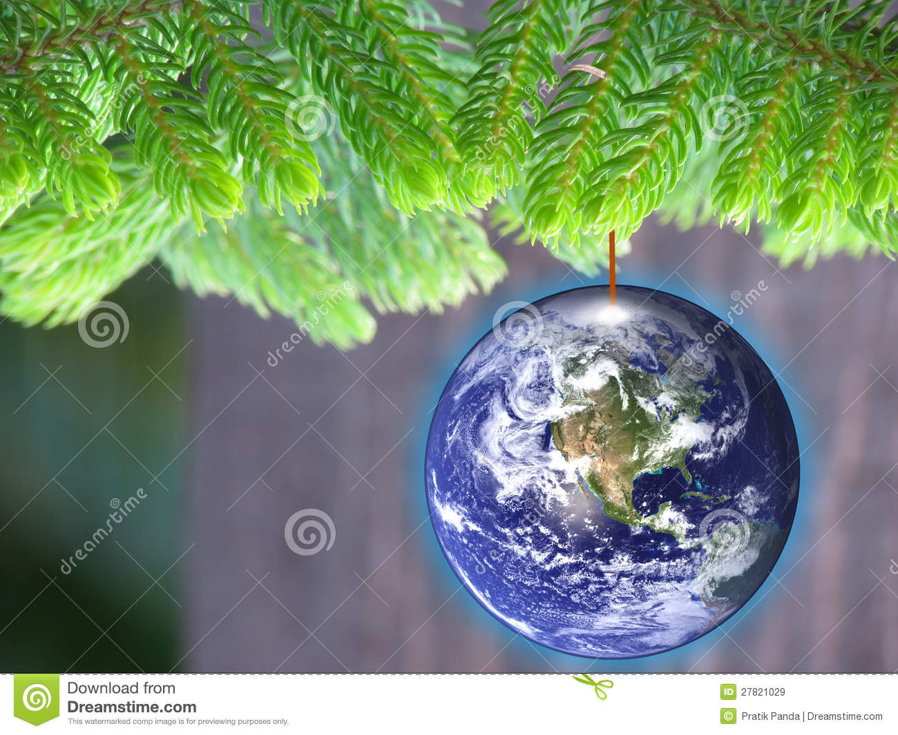 Energy Conservation Eco Friendly Christmas Royalty Free