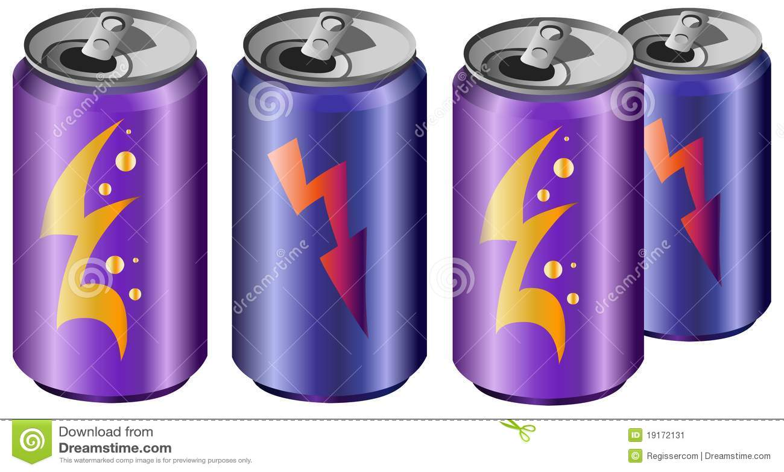 energy drinks stock illustration