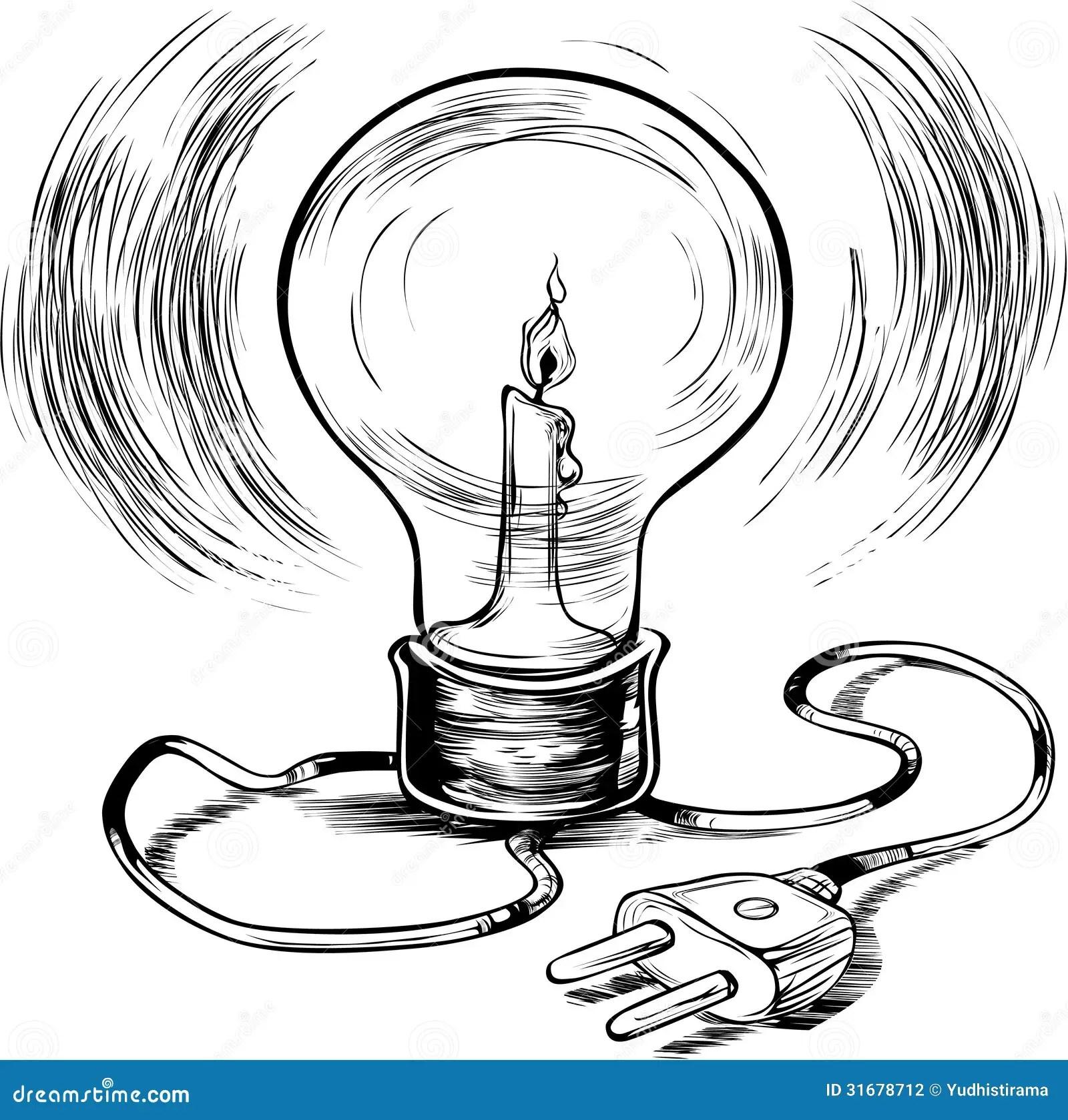 Energy Efficient Burning Electricity Stock Photography