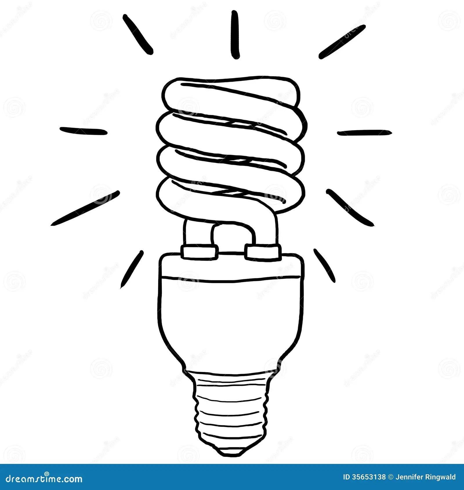 Energy Efficient Light Bulb Stock Illustration