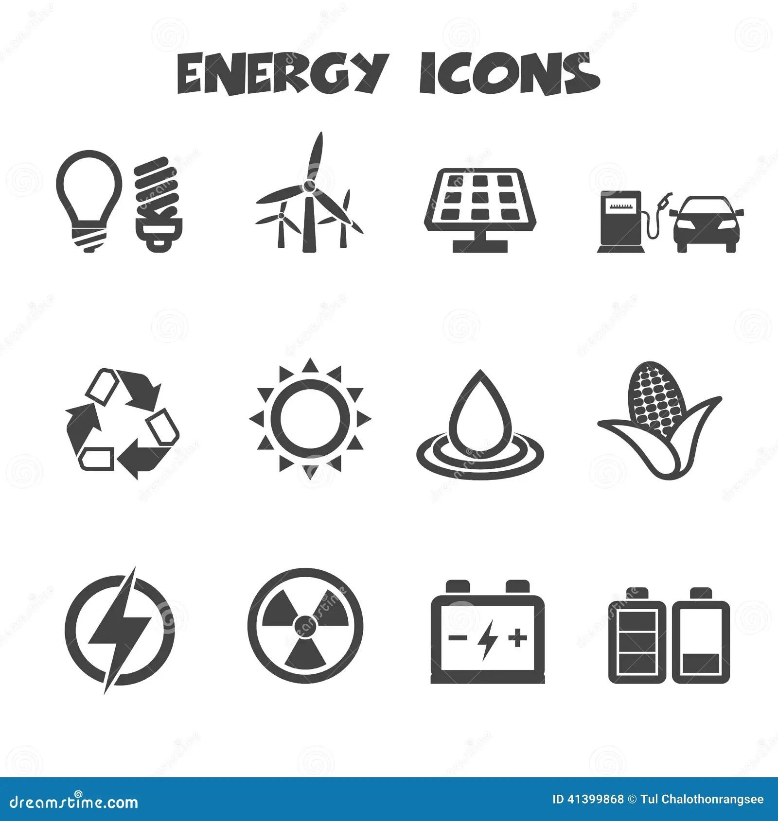 Energy Icons Stock Vector