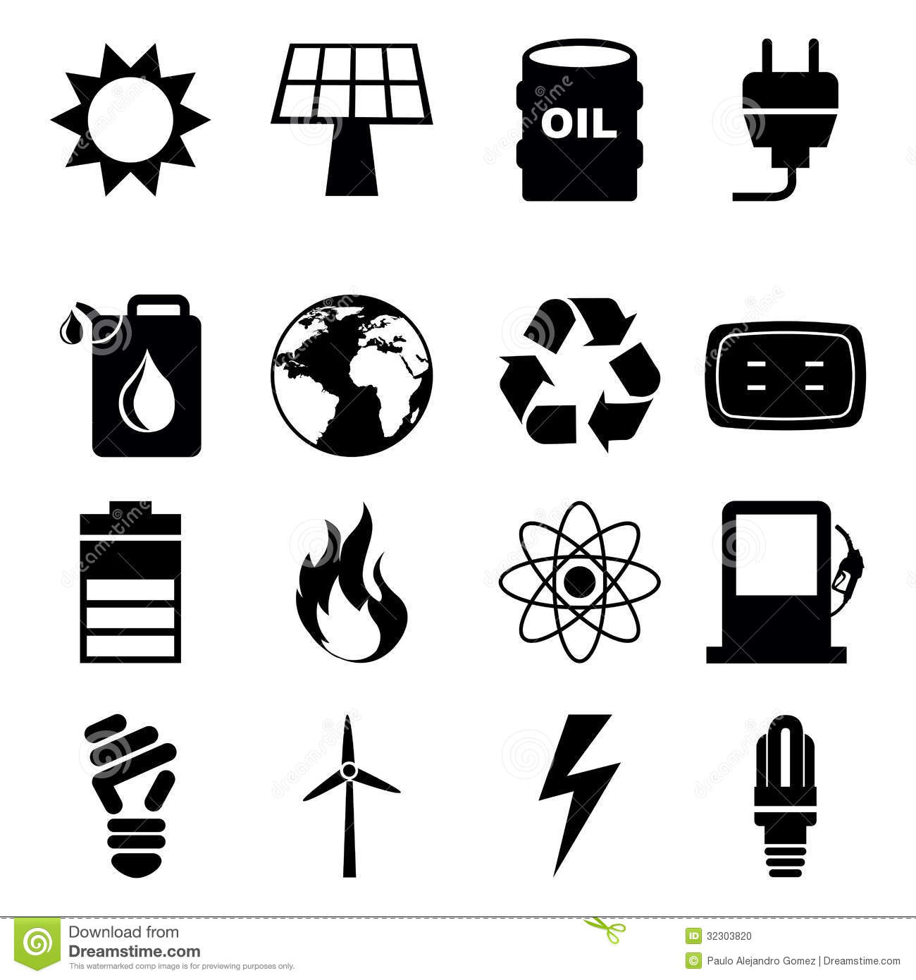 Energy Icons Stock Vector Image Of Icon Design Abstract