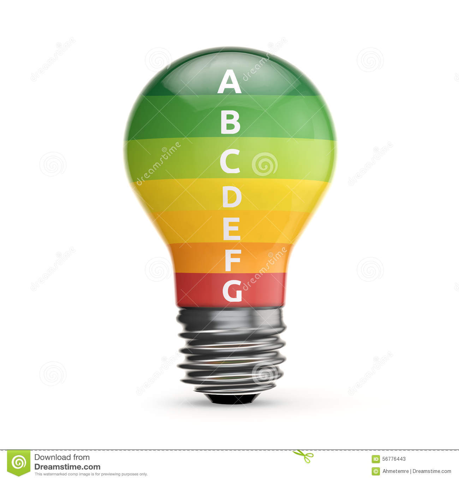 Energy Label Inside Light Bulb Stock Illustration