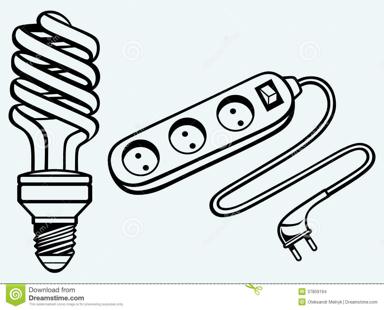 Energy Saving Light Bulb And Power Surge Stock Images