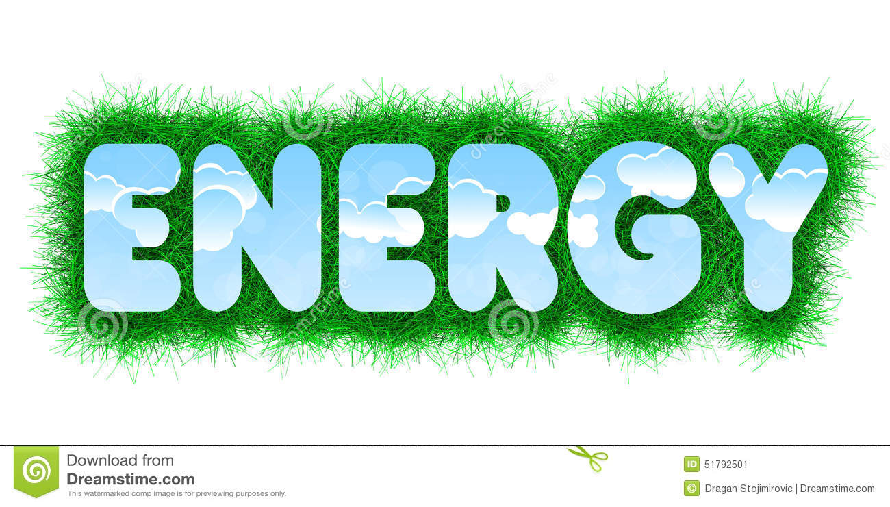 Energy Title Stock Illustration Image Of Fresh Grass