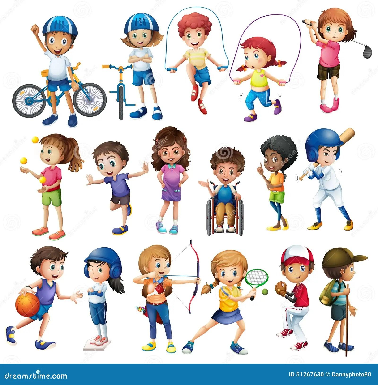 Enfants Et Sports Illustration Stock Illustration Du