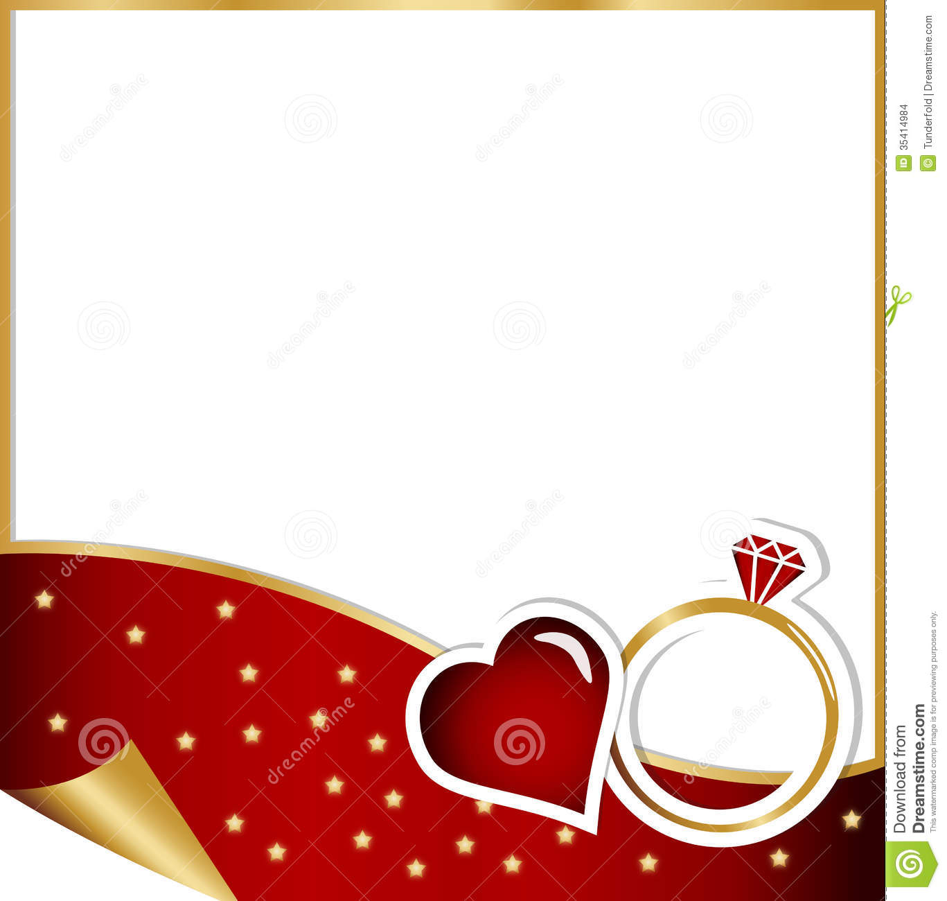 Engagement Card Christmas Concept Stock Illustration