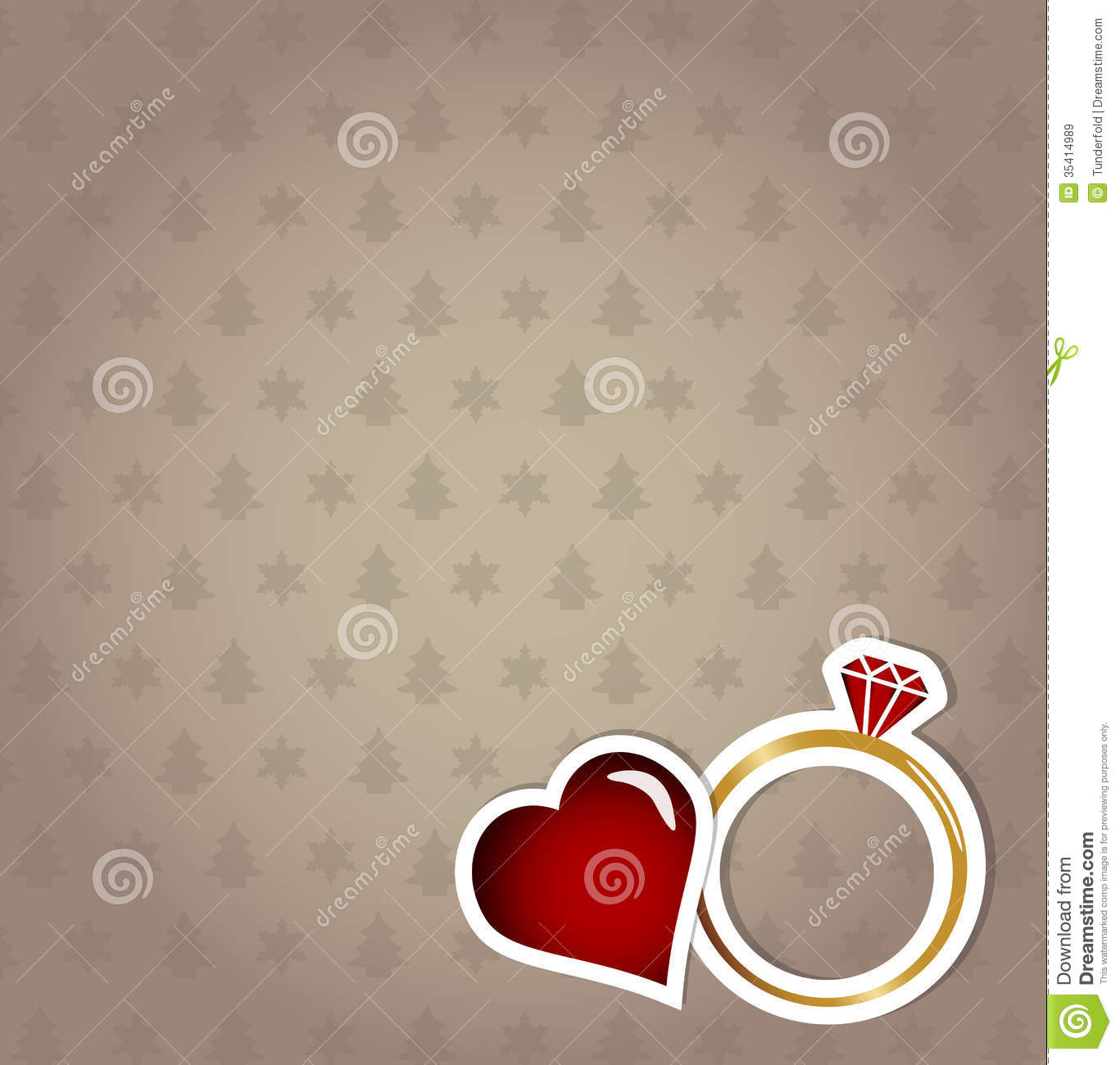 Engagement Card  Christmas Concept Royalty Free Stock Images  Image 35414989