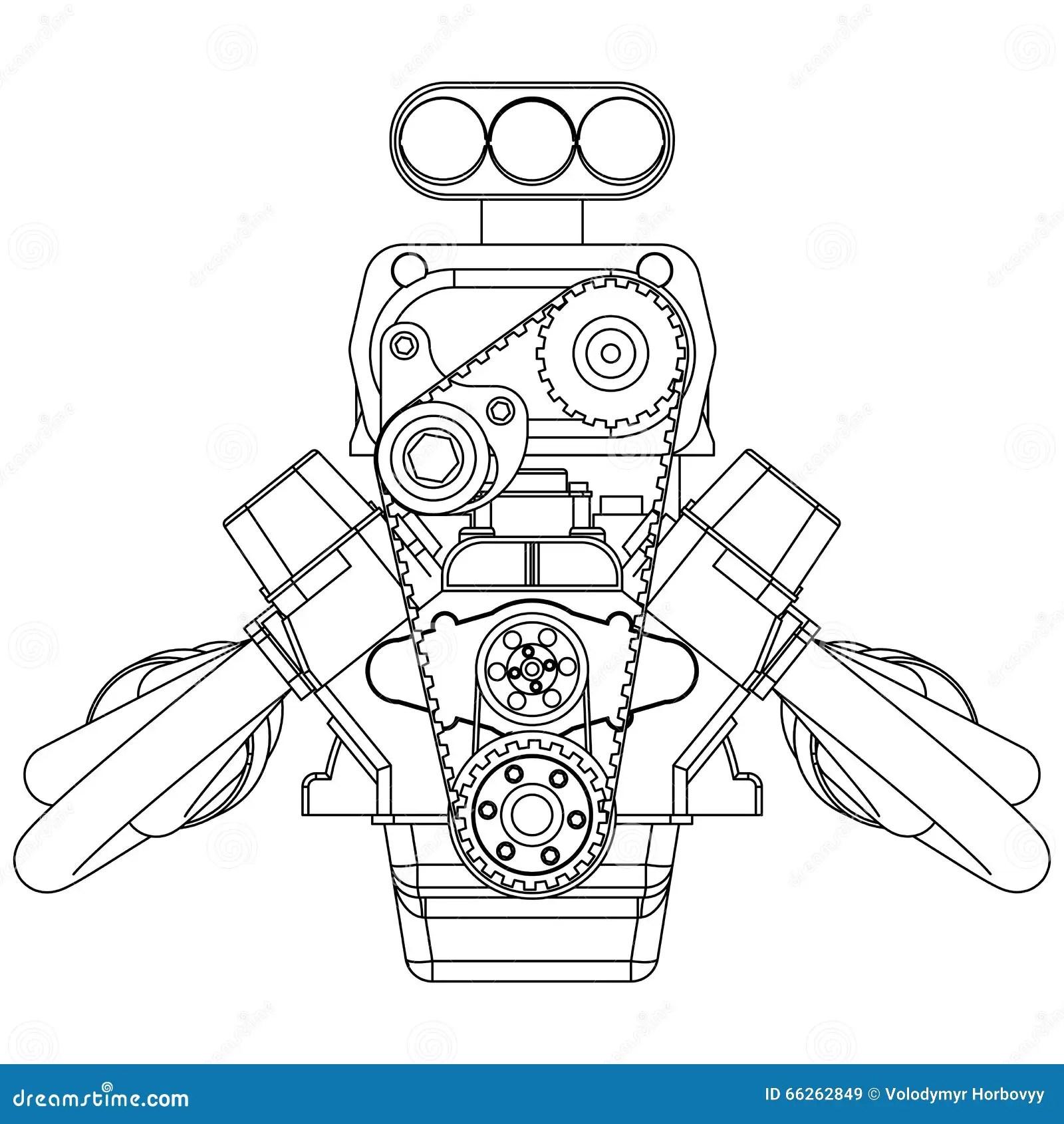 Engine de Rod chaud illustration de vecteur. Illustration