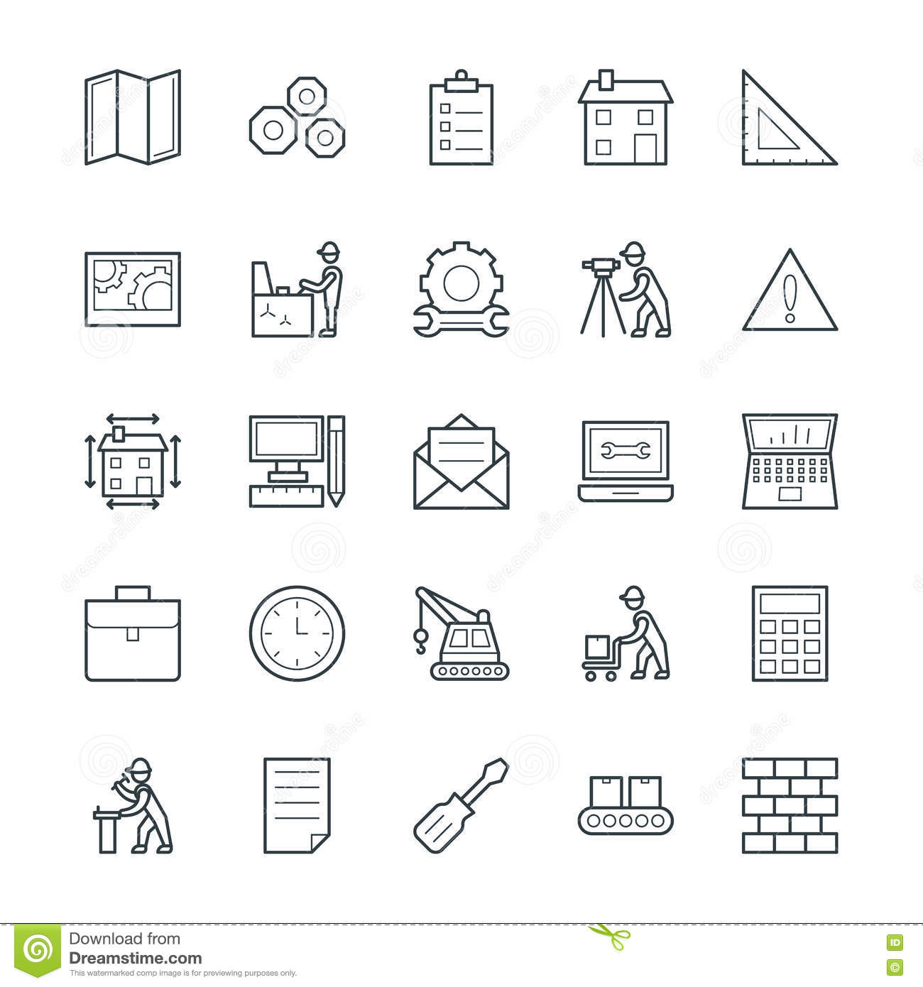 Engineering Cool Vector Icons 2 Stock Illustration